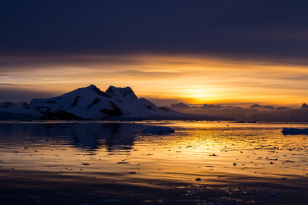 nowhere: Sunset in the middle of nowhere, Lemaire Channel, Antarctica