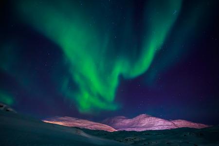 Shinning over Nuuk city, Greenland Banco de Imagens