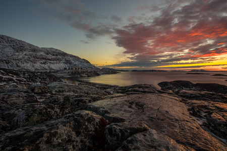 greenlandic: Greenlandic sunser, nearby Nuuk city