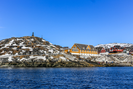 nuuk: Old harbor view , Greenlandic capital Nuuk