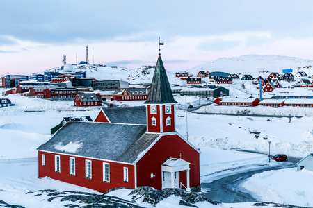 nuuk: Annaassisitta Oqaluffia, church of our Saviour in Historical center of Nuuk