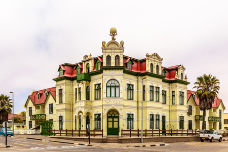 Old German colonial building, Swakopmund, Namibia
