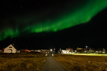 greenlandic: Greenlandic northern lights, nearby Nuuk, October 2015