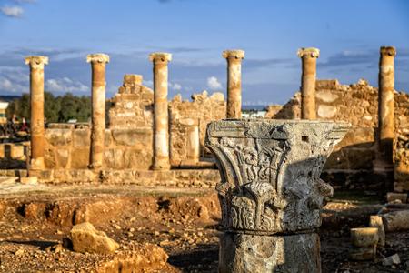 The House of Theseus, Roman villa ruins at Kato Paphos Archaeological Park, Paphos, Cyprus