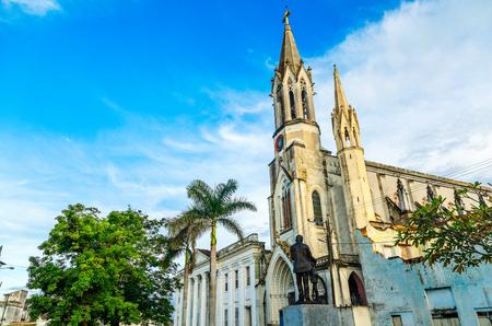 Iglesia del Sagrado Corazon de Jesus or Church of the Sacred Heart of Jesus, old cathedral of Camaguey city, Cuba Stock Photo