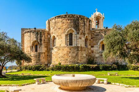 Medieval stone Church of St John the Baptist, Byblos, Jbeil, Lebano
