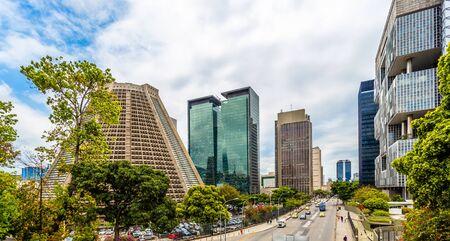 Modern skyscrapers buildings downtown panorama, Rio De Janeiro, Brazil Imagens