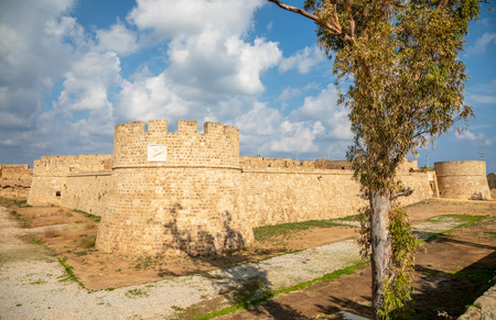Othello Venethian castle tower and walls, Famagusta, North Cyprus Editorial
