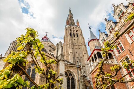 Church of Our Lady, cathedral towers, Bruges, Belgium