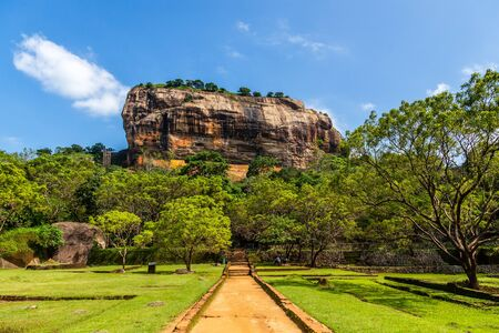 Sigiriya or Lion rock - ancient rock fortress, Dambulla, Central Province ,Sri Lanka Stock Photo