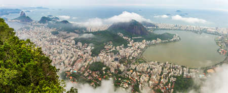 Rio city center downtown panorama with coastline, Rio de Janeiro, Brazil