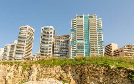 Beirut city living blocks and buildings , Beirut, Lebanon