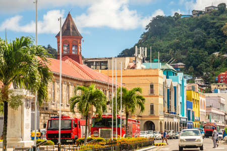 City center of caribbean town  Kingstown, Saint Vincent and the Grenadines