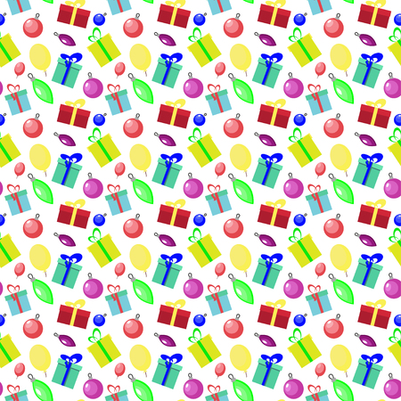 christmas motif: Seamless pattern background with new year and Christmas motif Illustration