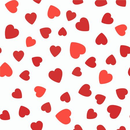 white tile: Set of 5 seamless pattern with hearts. Valentines Day background