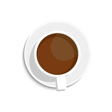 A cup of coffee or black tea. vector isolated on white