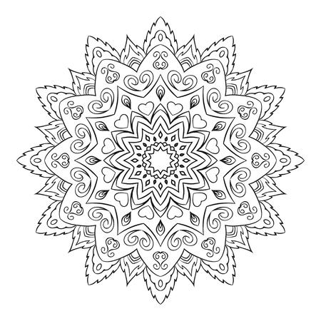 Simple geometric mandala illustration