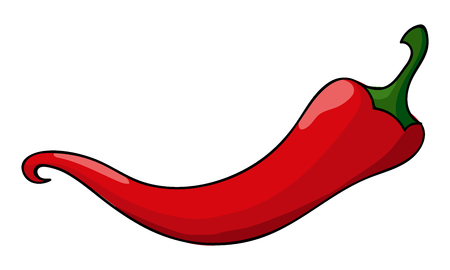 Red chili pepper isolated on white background Banco de Imagens