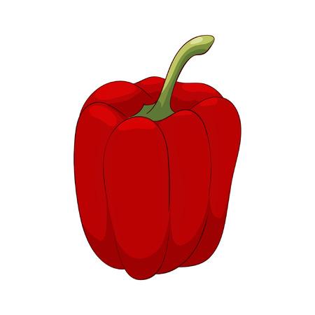 Red vector sweet bulgarian pepper Ilustração