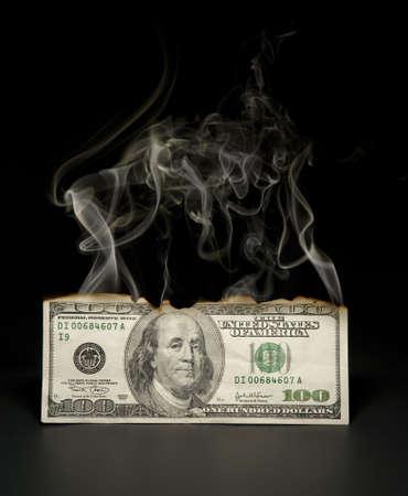 Hundred dollar bill going