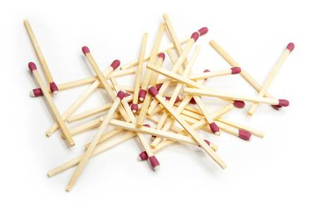 Scattered Pile of Match Sticks