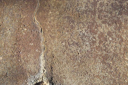 Cement with orange stains and Large Cracked Seam Banco de Imagens