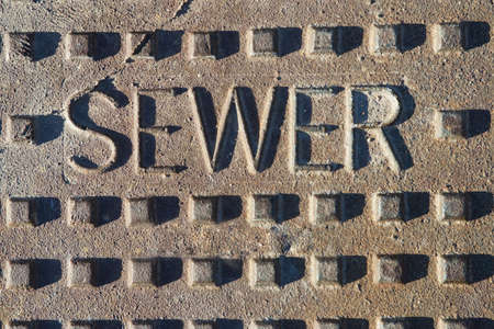 Sewer Lid Close Up