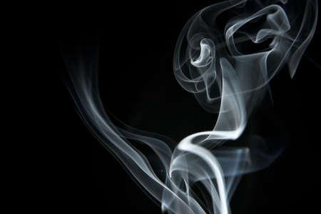 wisp: White Smoke on Black Background