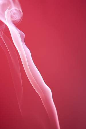 wisp: Bright pink spot lit background with white smoke rising vertically and diagonally