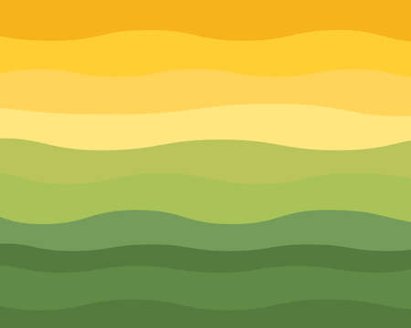 lines: Green and Yellow Wavy Horizon Vector