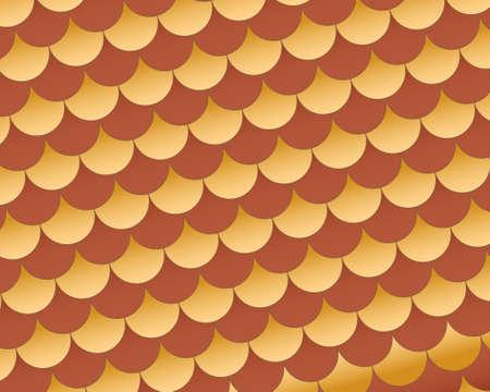 Interlocking semi circles in earth tone colors of cream and brown red. Иллюстрация
