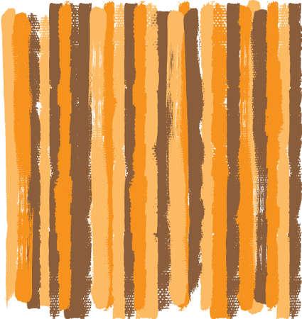 オレンジ、茶色とベージュ色のグランジ ベクトル縞の大まかなエッジを持つ。