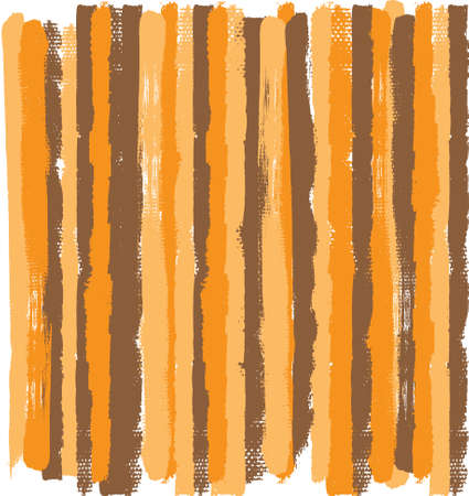 Orange, brown and beige color grunge vector stripes with rough edges. Ilustrace