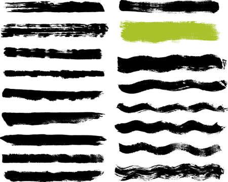 lineas onduladas: 17 Real Trazos de brocha sobre lienzo