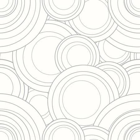 ベクトルのインターロッ キング サークル タイル パターンを繰り返し  イラスト・ベクター素材