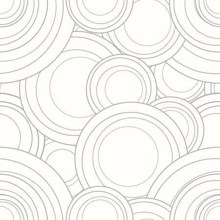 interlocking: Vector interlocking circles repeat tile pattern Illustration