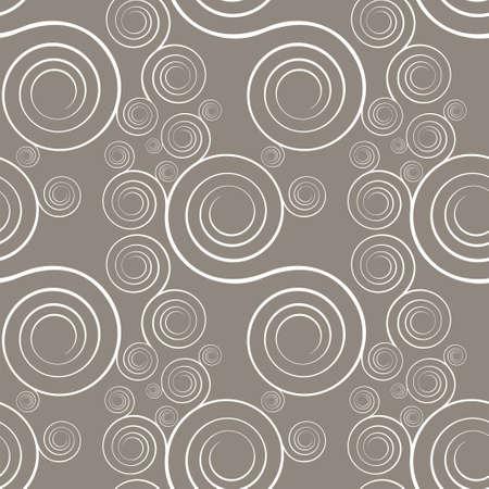 Interlocking spirals repeat tile pattern