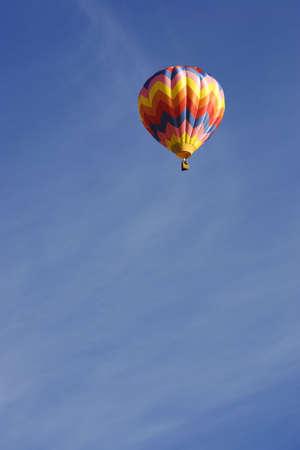 Hot air balloon against blue sky Stock fotó