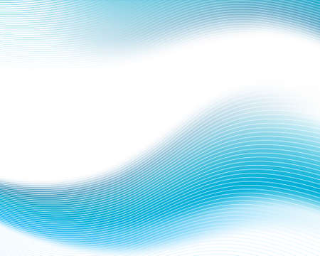 Blue gradient waves with wireframe overlaid lines.