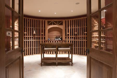 Expansive wine cellar and bottle shelves photo