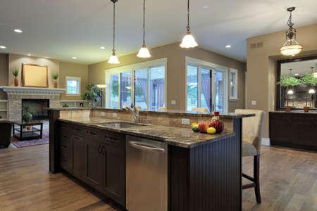 granite kitchen: Luxury kitchen with granite countertops