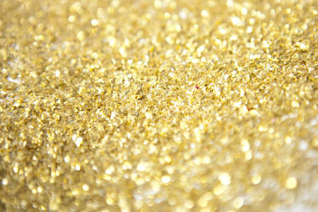 shimmering: Gold Glitter Close Up