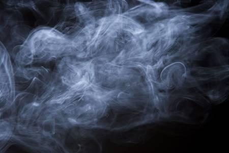 wisp: Zachte bewolkt deeltjes van rook