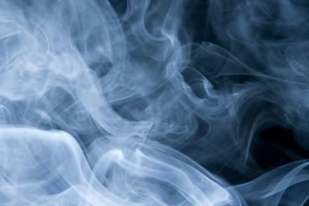 Swirls of Blue Smoke on Black Stock Photo - 5568285