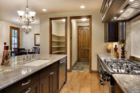 granite: Elegant Kitchen with Granite Counter Stock Photo