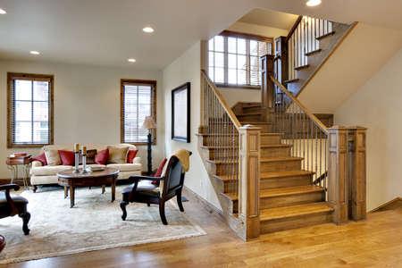 大きなロビーと階段 写真素材
