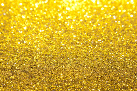Gold Glitter Selective Focus Foto de archivo