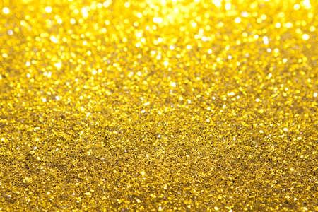 Gold Glitter Selective Focus Archivio Fotografico