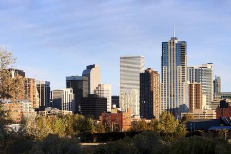 Denver Skyline from Southwest Side of Town Autumn 2009