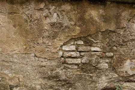 estuco: Hist�rico Brick Wall Mortero Foto de archivo